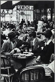 """Montparnasse 1920s   Le Dôme"""", one of these cafés, in 1926"""
