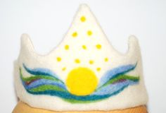 Birthday Crown crown with sunset made of felt by Jumatahandmade