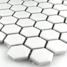 Ceramic Mosaic Tiles Honeycomb Structure White - 1 Sheet