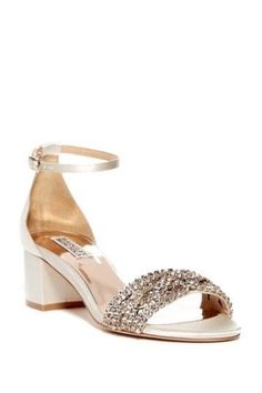 c3dab950be180 Never worn new BadgleyMischka evening   wedding shoe-Ivory Satin.Size 8.  ShoeIvoryStylishSatinSandalsCouponAmazonClothingHeels