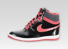 Inspired by the Nike Court Force, the Nike Women's Force Sky High has a feminine design with hidden wedge heel. Description from sneakerhead.com. I searched for this on bing.com/images