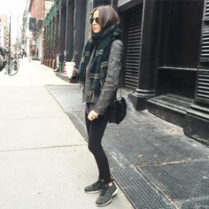 """""""Wearing my new sparkly sneakers from @bandierfit  / #soserious #hotchocolate"""""""