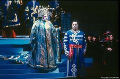 Jane Eaglen (Turandot), Jon Villars (Calaf) in SF Opera's Turandot. BY LARRY MERKLE  (HANDOUT PHOTO) Photo: HANDOUT