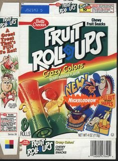 Fruit Roll Ups. Loved it when they had the cut out shapes and characters.