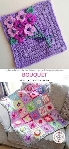 Sweet crochet baby blankets flower potholders coasters free crochet pattern and tutorial Crochet Afghans, Crochet Blanket Patterns, Baby Blanket Crochet, Crochet Baby, Free Crochet, Easy Crochet, Kids Crochet, Crochet Cushions, Crochet Pillow