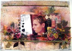 Mixed media canvas with my sister Katerina