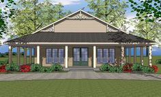 House Plan 6471-00034 - Ranch Plan: 1,225 Square Feet, 2 Bedrooms, 2 Bathrooms