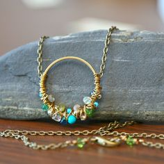 necklace, wire wrapped