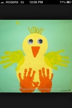 Easter craft for kids chick handprint