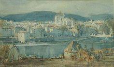 Магия акварели.Старые мастера. - ч.1. - Журнал обо всём   ARTHUR REGINALD SMITH (1872-1934) View of Cahors, watercolour