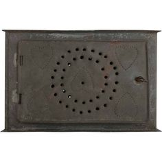 Antique Foot Warmer Insert Hearts Circles Primitive Punched Tin