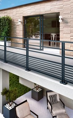 Balcony Glass Design, Glass Balcony Railing, Balcony Grill Design, Modern Railing, Balcony Railing Design, Window Grill Design, Terrace Design, Patio Railing, Staircase Design