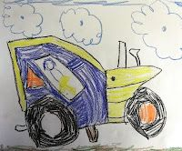 Drawing trucks and tractors with shapes