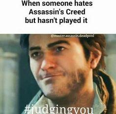 Quando alguém odeia AC mas nunca jogou o game: #julgandovocê