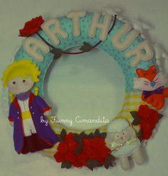 """Enfeite de porta """"Le Petit Prince"""" Criação Exclusiva: Funny Amandita. www.elo7.com.br/funnyamandita"""