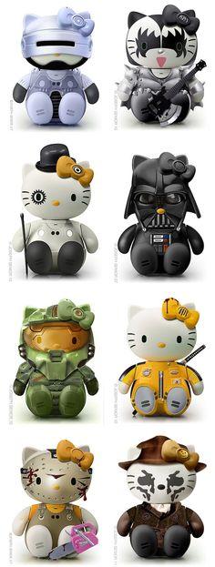 Halo Kitty, Terminator Kitty, KISS Kitty, Darth Kitty, I <3 them all