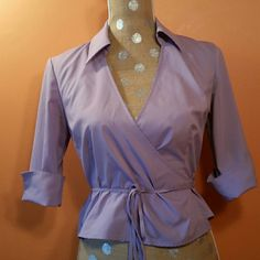 Lavender Wrap Blouse In excellent like new condition! Express Tops Blouses