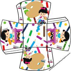 Olá queridos amigos ( as ) e seguidores do nosso Blog . Hj temos mais um Kit feito especialmente por mim ( Gabi Bonfim )p ajudar a colori... Art Themed Party, Art Party, Party Themes, Box Patterns, Head Start, Birthday Parties, Projects To Try, Birthdays, Paper Crafts