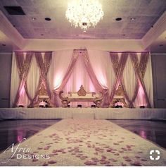 Indian Wedding Stage, Indian Wedding Receptions, Wedding Venues, Indian Weddings, Reception Stage Decor, Event Decor, Wedding Hall Decorations, Quinceanera Decorations, Pipe And Drape