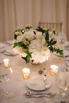 Cream Green and Gold Reception Table   photography by http://twobirdsphoto.com