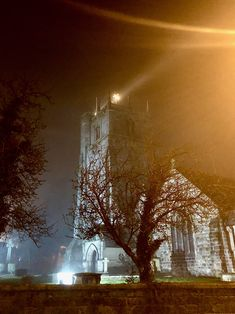 St Oswald's Church on a misty night, I love the way the weather vane is lit up and how the stream of light continues upwards into the foggy air! Misty Night, Weather Vanes, Sorting, 6 Years, The Great Outdoors, Light Up, Picture Video, Country Roads, In This Moment