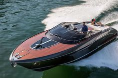 Riva's sleek, 39-ft speedboat was carefully crafted to create a sporty feel while retaining the company's signature high-class aesthetic.