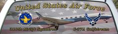 United States Air Force 310th Airlift Squadron Rear Window Graphic Mural.