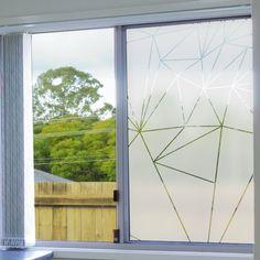 Sticker occultant pour vitres et fenêtres motif prismes.