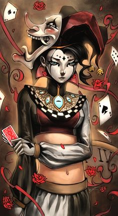 Image found HERE Two of Spades Spare ye, spare ye, and dare ye! A coin for the harlequin behind the stage. Heads he laughs, tails he weeps as the auditorium yawns and blinks and waits for sweeping …