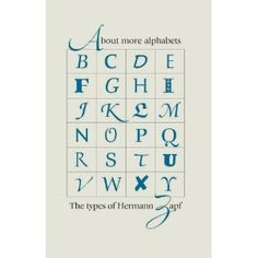Book: About More Alphabets: The Types of Hermann Zapf