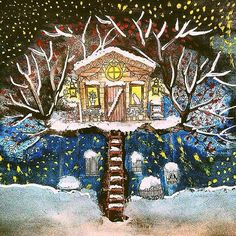 #winter #coloringbook #secretgarden #watercolor #snow #waiting #for #chrismart @johannabasford @coloring_secrets