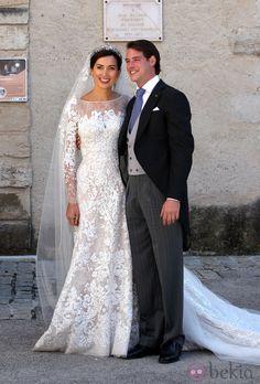 Félix de Luxemburgo y Claire Lademacher posan tras convertirse en marido y mujer