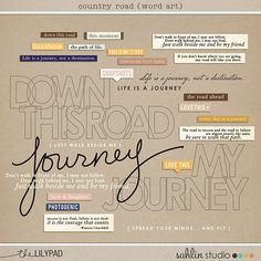 country road word art by sahlin studio