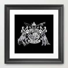 You know what would look brilliant hanging on your wall? The Cracked coat of arms. House of Cracked Framed Art Print | Cracked.com #Dispensary