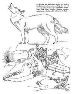 oregon trail coloring picture