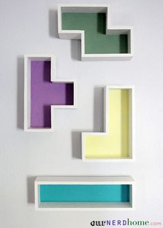 Schon DIY Tetris Shelves Fabulous DIY Shelves For Your Home.