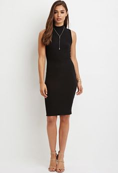 Mock Neck Bodycon Dress | Forever 21 - 2000165286