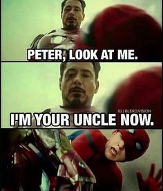 Just deal with it haha!!! #peterparker #spiderman #ironman #civilwar #captainamerica #thor #hulk #marvel #marvelfans #marvelcomics #marveluniverse #comics #comicbooks #memes #meme #funny #saturday #saturdaynight #selfie #football #amazingspiderman #blackwidow #scarletjohansson #robertdowneyjr #chrisevens #warmachine #hulkbuster #blackpanther #doubletap