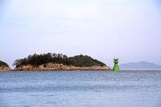 Landscape of West Sea from Munyeo island in Gunsan, South Korea