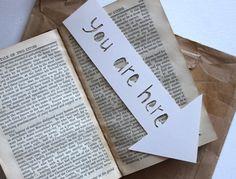 you are here Bookmark Handmade paper cut by emmarosedaniels, $3.16