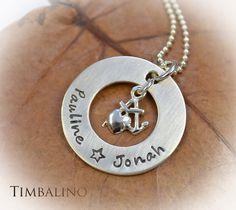 """Namensketten - Namenskette """"Glaube Liebe Hoffnung"""" 925 Silber - ein Designerstück von Timbalino-Bijoux bei DaWanda"""