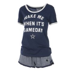 d01ffe44bd Dallas Cowboys Women s Gina Sleep Set - Navy