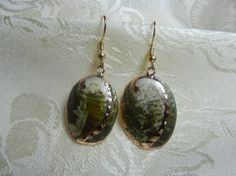 Green Abalone Shell with Hypoallergenic Wires by TheSaltyShell, $16.00