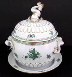 For sale is a Herend Chinese Bouquet yellow soup tureen with plate. A few tiny flakes or unpainted parts on flower petals. Chinese Greens, Some Like It Hot, Flower Petals, Hungary, Bouquet, Soup, Plates, Vegetables, Yellow
