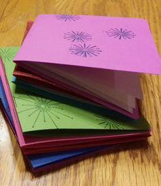 Adorable mini sketchbooks, inspired by Paper Art #handmadebooks
