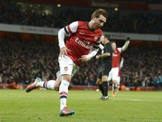 Cazorla After Scoring in FA Cup Match vs Spurs 2013-2014.