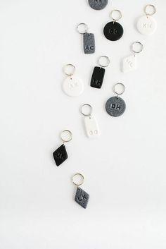 DIY Monogram Clay Keychains