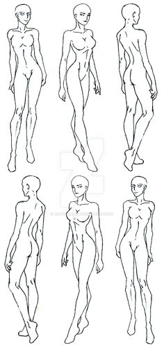 This is MY drawing of some croquis I have from my Fashion Design class. In my opinion, these are more realistic in society. If you want to design clothes, then you need to design it on a croquis th...