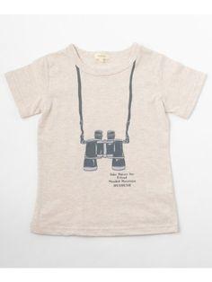 双眼鏡プリントTシャツ