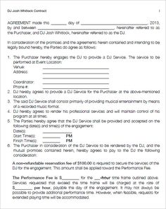 6+ DJ Contract Templates – Free Word, PDF Documents Download ...